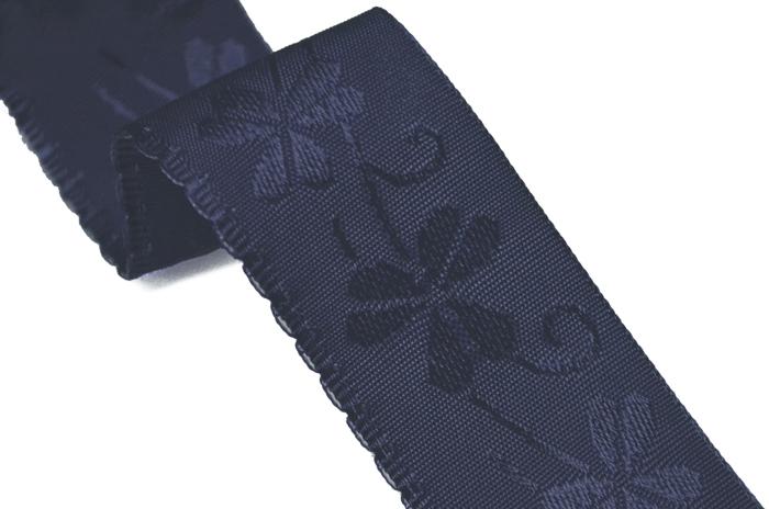 裾の補強!八掛、袖口の汚れ防止に役立つ和装アイテム♪  すりきれ予防!! ガロンレース 紺 【ガロンテープ】【和裁】【20枚までネコポス対応】
