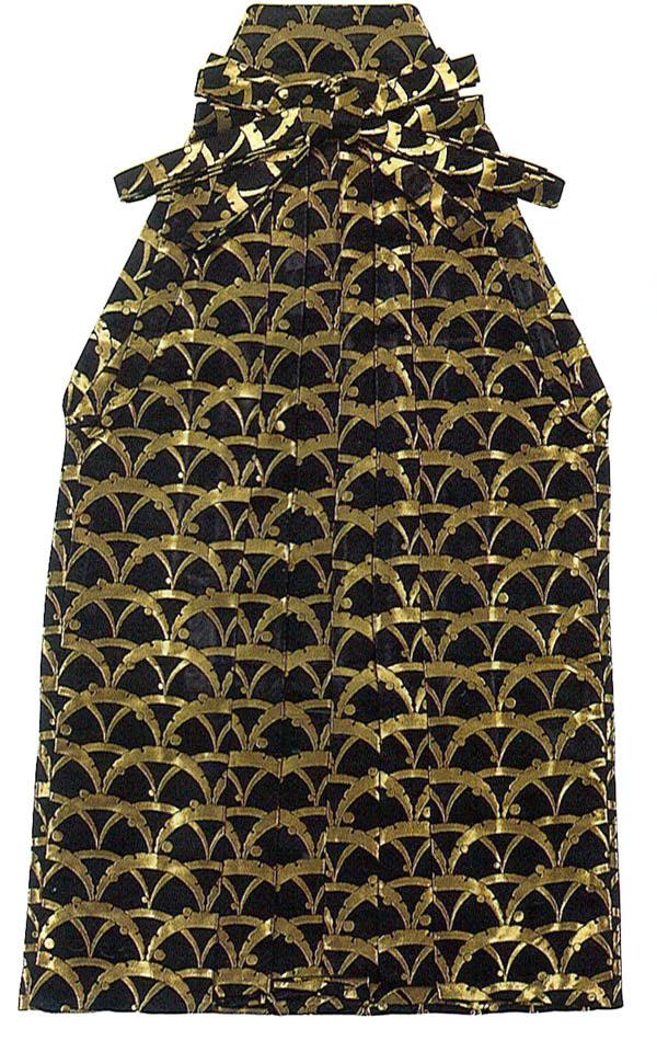 男物 お仕立て上がり 踊り用袴 黒地に金色の模様 S・M・Lサイズ 【メンズ】【日本舞踊】【送料無料】