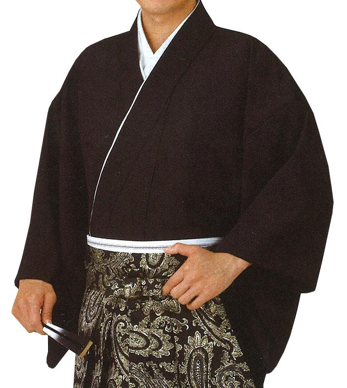 男物 袴下着物(伊達衿付き) 黒 M・Lサイズ 【メンズ】【納期約2週間】【送料無料】