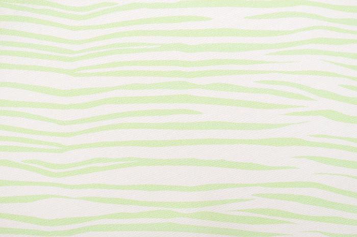 正絹 柄八掛 ライトグリーン×オフホワイト ゼブラ柄 約4.4m 【裾回し】【送料無料】