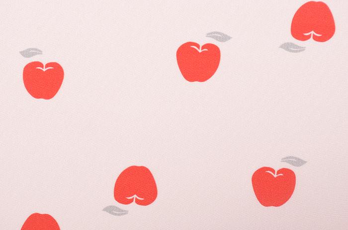 正絹 柄八掛 さくら色 赤りんご 約4.4m 【裾回し】【送料無料】