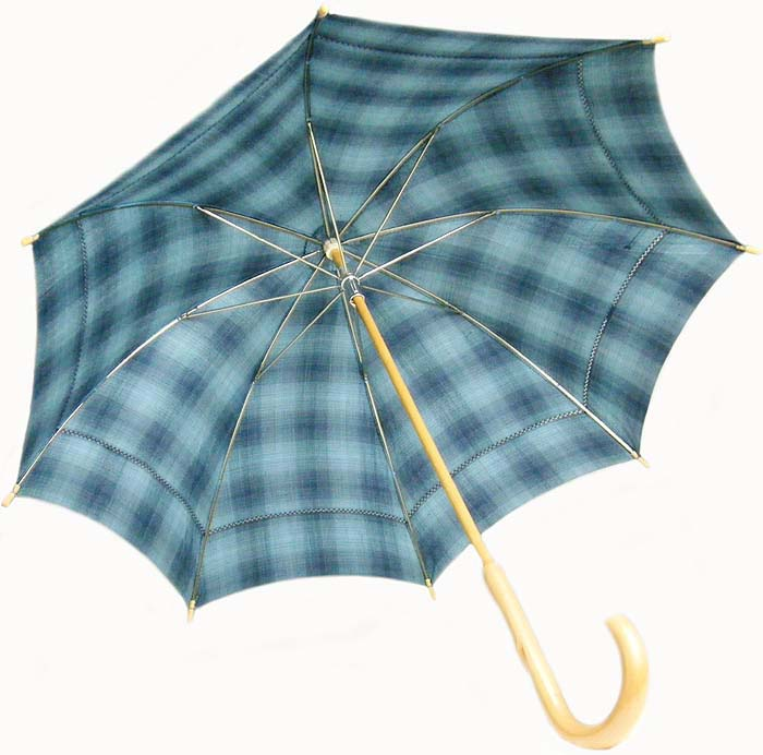 西陣 真綿紬 着物生地 日傘 正絹 絹 和装 着物に合う京都(日本製)仕立て