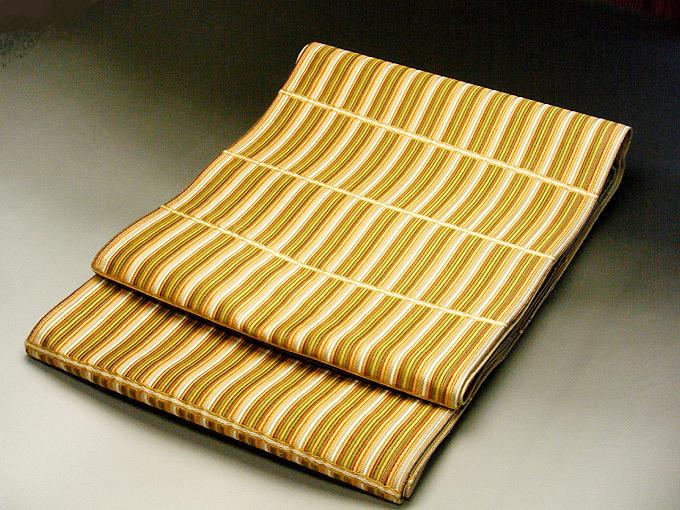 正絹 西陣 しゃれ 袋帯 織華佐竹 小紋 紬 (シンプル柄しゃれ袋帯)