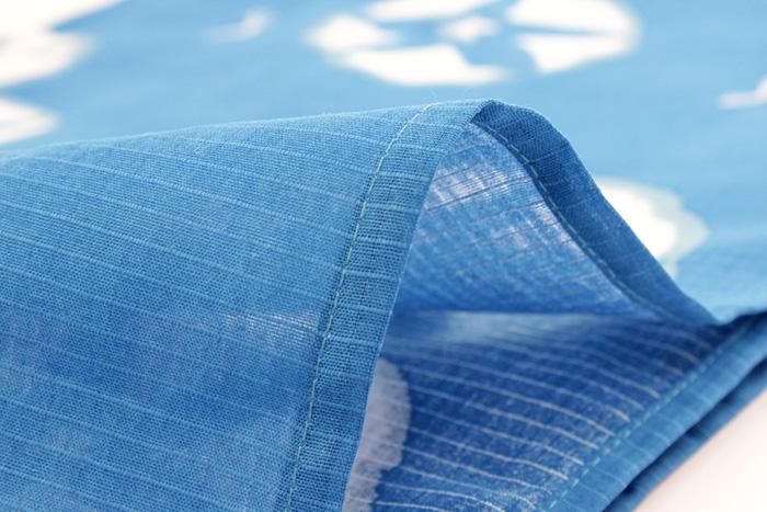 레이디스 유카타 단품 S M L사이즈 블루지 나팔꽃 변화직마춤옷의 됨됨이 오리지날 여성 an우구