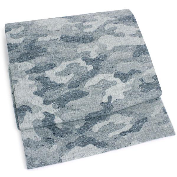 海外最新 仕立て上がり 軽装なごや帯 グレー 迷彩 綿 一人で簡単に帯結びができる 作り帯 ワンタッチ帯 お太鼓 付け帯 wg, RPG ca8dd01f