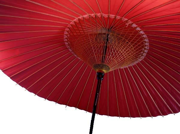 Japanese umbrella bangasa white red