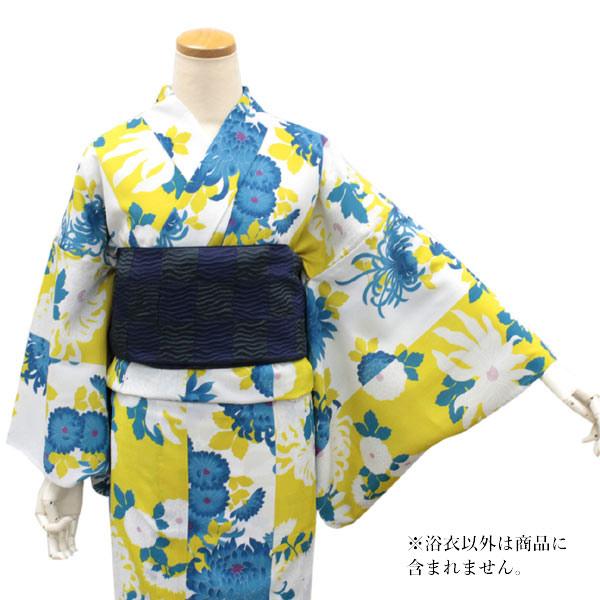 東レセオアルファ 浴衣 レディース Mサイズ 送料無料 単品 無松庵 Mサイズ 白地菊尽くし 洗える 着物 ゆかた 女性 日本製 セール対象外 hiクニ