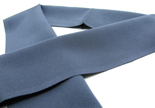 半襟 半衿 正絹 ちりめん 半えり 無地 ネイビーグレー〔NO 8〕kimonoメール便発送可能セール対象外KcT1lFJ
