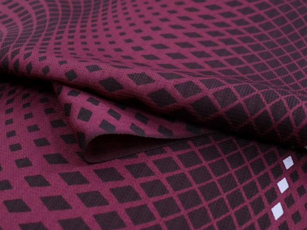 正絹 小紋 反物 フルオーダー 仕立て付き 着物 和装 和服 赤紫 菱 縞 着尺 単品 袷 単衣 女性 レディース 送料無料IYeDEHW29