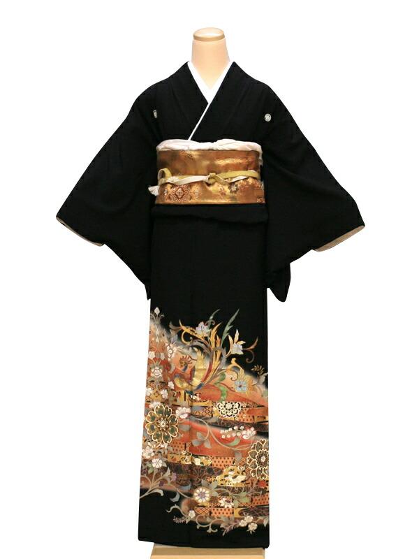 【クーポン】【レンタル】結婚式 ブライダル 留袖 レンタル 送料無料 (黒留袖)(結婚)着物