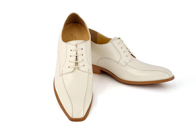 【クーポン】【販売】【レザー合皮】【タキシード】【ブライダルシューズ】【結婚式】【白い靴】【シークレットシューズ】【オフホワイト】(メンズシューズ)【フォーマルシューズ】