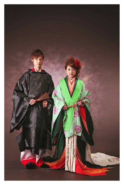 【レンタル】結婚式 ブライダル 格式ある神前式におすすめ!十二単衣レンタル