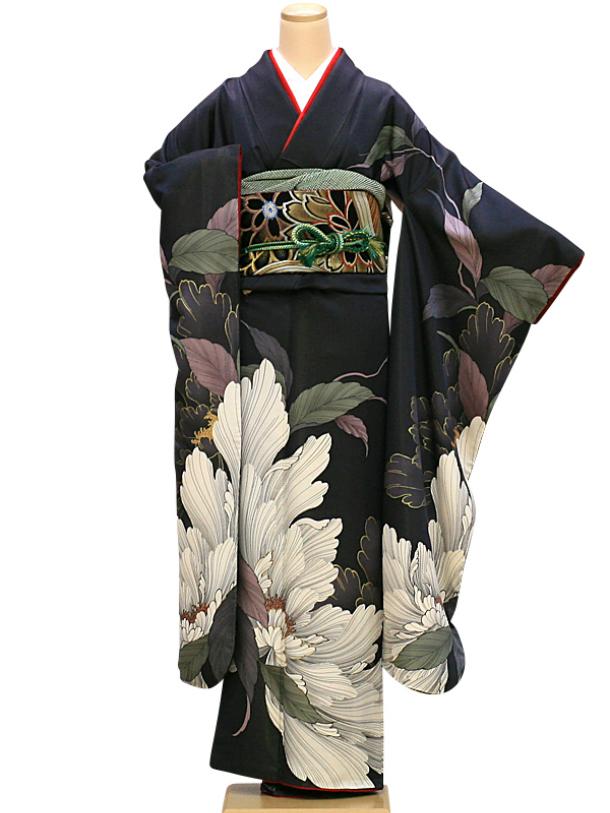 【レンタル】振袖 レンタル 成人式 着物 セット (およばれ)(結納)21 グレー白大輪