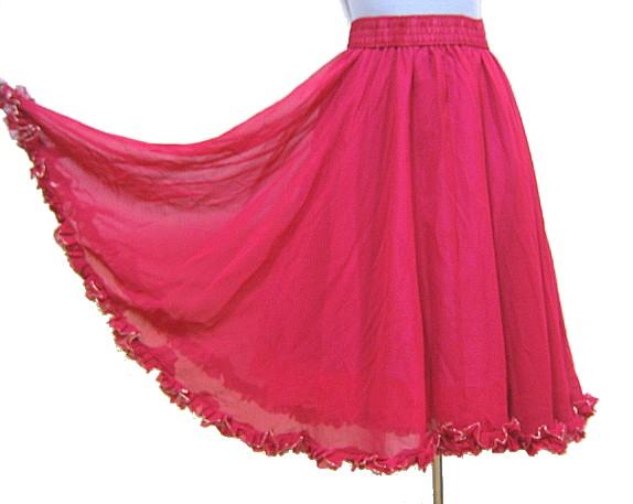 送料無料 セール特価 裾ラメフリル付きスカートチェリー 優先配送