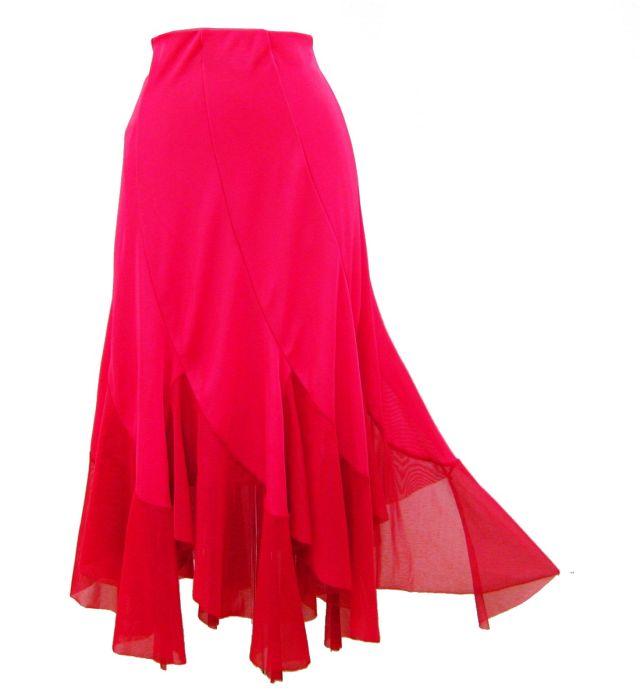 ※ラッピング ※ 社交ダンス カラオケなどに最適 スカートの裾に伸縮性のある軽いネット地を付けています オンラインショッピング 少しの動きで軽やかな動きをします 送料無料 ピンク 裾ネット8枚ハギスカート