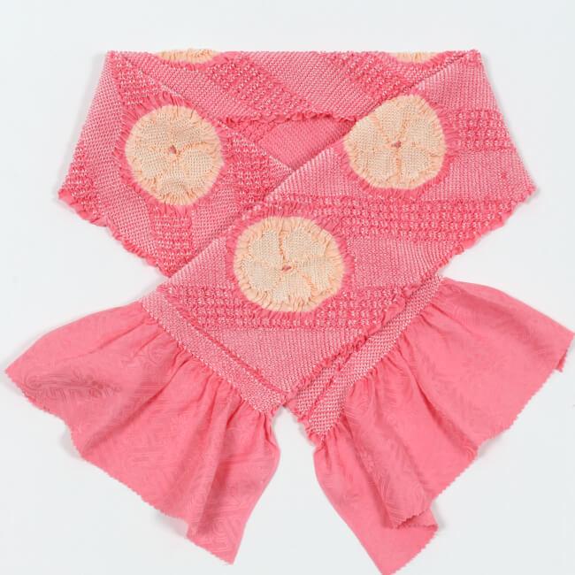 総絞り帯揚げ 振袖用 正絹 輪出し二色 ピンク×薄ピンク 帽子絞り入 成人式 卒業式 ママ割