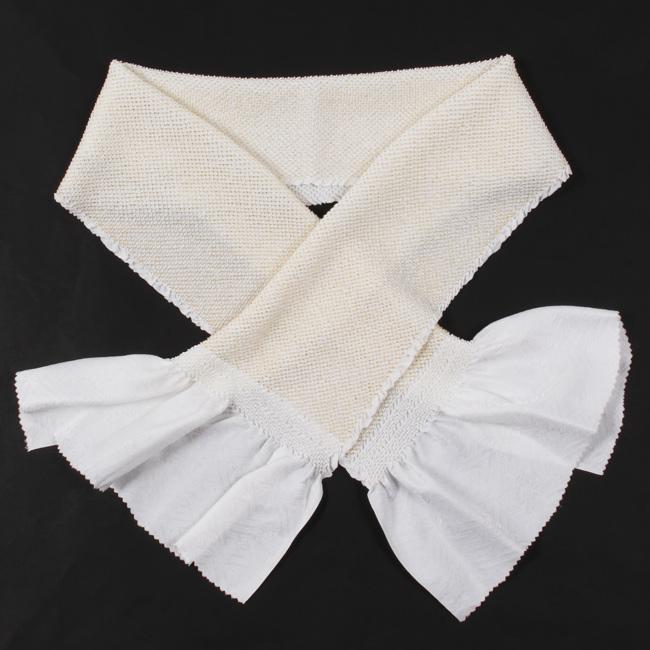 総絞り帯揚げ 白地×金 留袖用 正絹  金箔入り無地 【結婚式】四つ巻き絞り 金彩加工