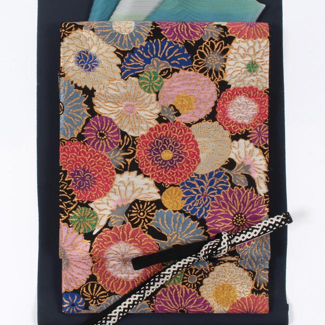 大きい割引 【帯屋捨松】西陣織特選創作袋帯 「菊の園」 黒地, プロフーズ 5df9a078
