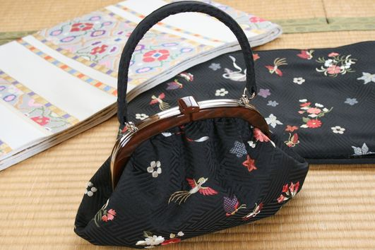 【セミオーダーメイド承ります】オリジナルがま口バッグ~世界に一つだけのオリジナルバッグ