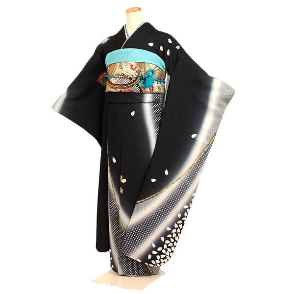 【レンタル】【振袖レンタル・黒系】振袖|新品足袋プレゼント|振袖 レンタル|振袖フルセット|ふりそで|振袖セット|レンタル 振袖|振り袖|furisode|結婚式|披露宴|親族|卒業式|パーティー|結納|和服|安い|着物レンタル|貸衣装|往復送料無料|f131