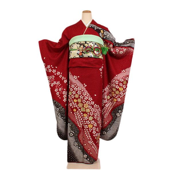 【レンタル】【成人式振袖・赤地】振袖|レンタル|振袖セット|レンタル振袖|着物レンタル|貸衣装|成人式|女性和服|振袖フルセット|安い|往復送料無料