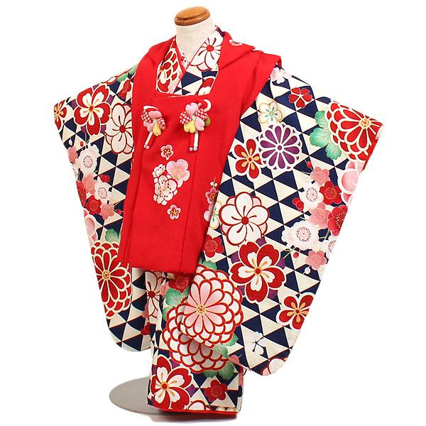 七五三・3才女児『KAGURA(カグラ)』赤/紺地