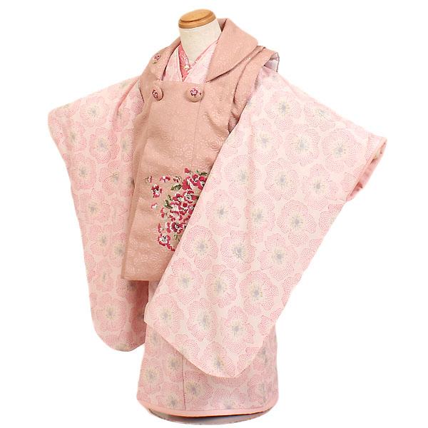 【レンタル】【七五三レンタル・3才女児着物『JILLSTUART』ピンク系】ジルスチュアート|ブランド|七五三|被布着物|3歳|被布セット|753|貸衣装|子供|レンタル|女の子|3歳被布セット|往復送料無料