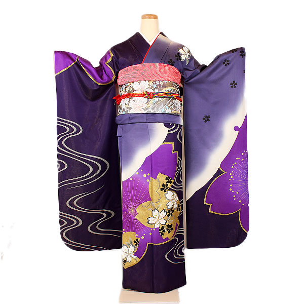 【成人式振袖】濃紫地
