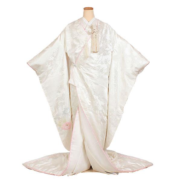 【レンタル】【白無垢・紋付フルセット〔ピンクこぶき仕立て白無垢〕】白無垢|レンタル|結婚式|レンタル着物|フルセット|和装|貸衣装|紋付袴|花嫁衣装|和服|和婚|新郎|新婦|衣装レンタル|ブライダル|神前式|神社|安い|往復送料無料
