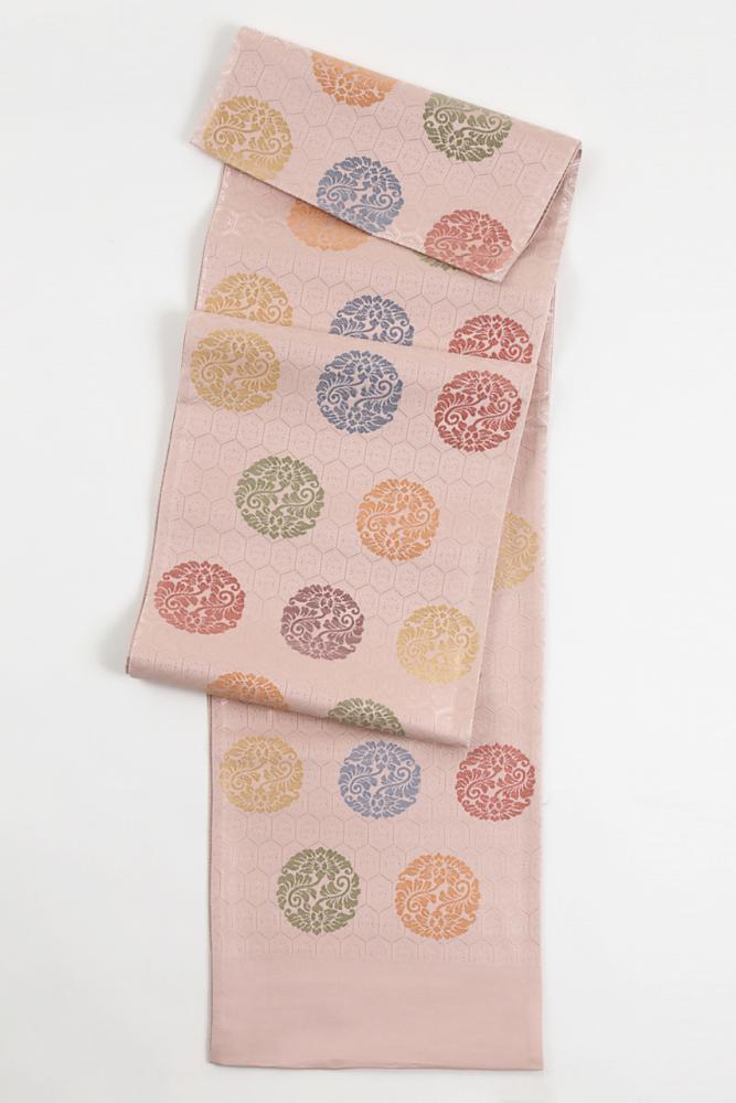 季節も年代も関係なくご使用になれる袋帯です 袋帯 帯 国産品 送料無料 あす楽 西陣織 正絹袋帯 fo-002 女性 おしゃれ袋帯 六通柄 レディース お得なキャンペーンを実施中 新品