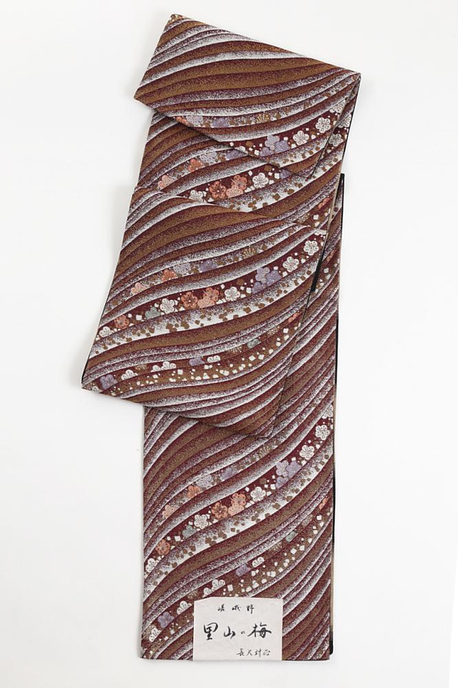 正絹袋帯(里山の梅)fo-005