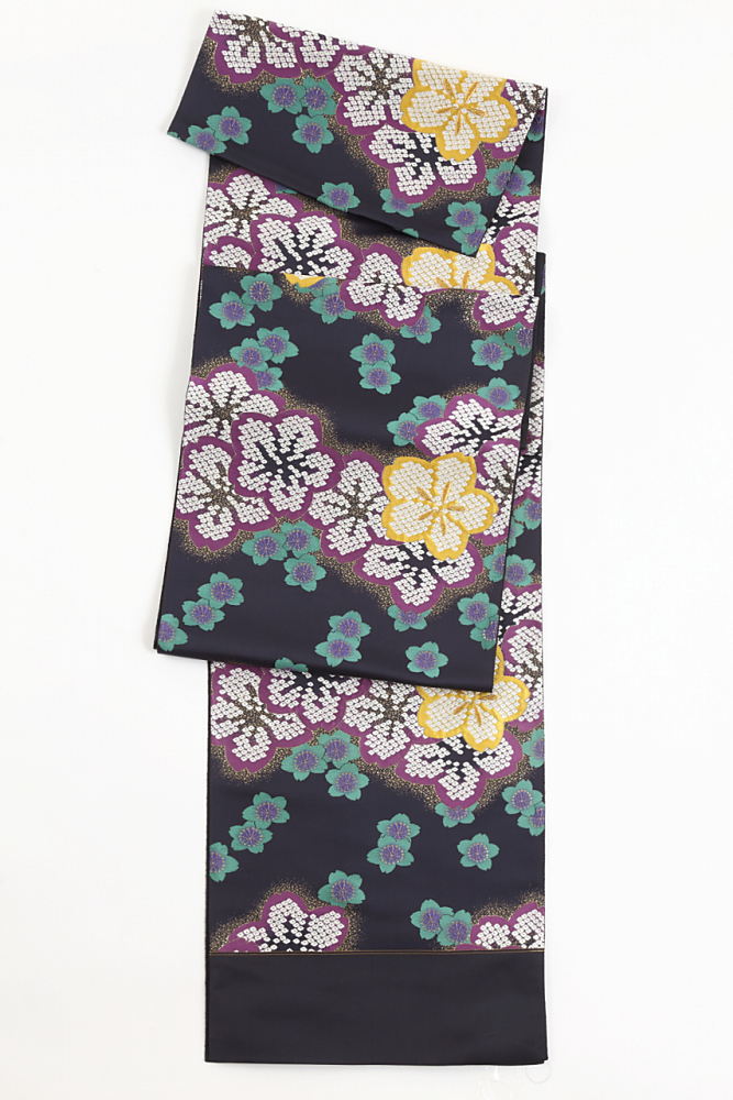 正絹振袖用袋帯(なごみ花段)fo-009