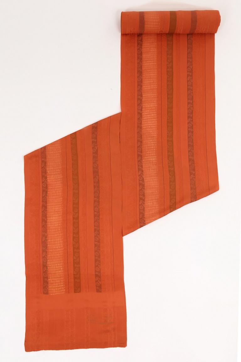 送料無料 あす楽 正絹 羽尺 オレンジ 反物 フォーマル カジュアル お値打ち 着物コート ha-016