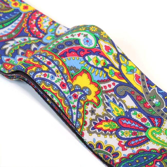【ひでや工房 角帯 MO-65】カラフル ペーズリー柄 綿帯 浴衣帯 着物帯 サイケ 長め 4m ベルト 個性的 着物コーデ コスプレ