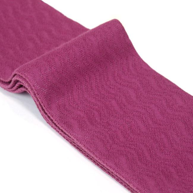 【ひでや工房 角帯 MO-85】赤紫 からみ織り 波 レース 綿角帯 大人 モダン 個性的 カジュアル 着物帯 浴衣帯 ベルト ポップ 長め4m 細め