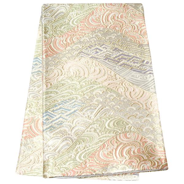 【レンタル】帯 単品 レンタル 帯単品レンタル「B677 留袖用帯 ゴールド系」 正絹 留袖用 帯 結婚式 母親 留袖帯レンタル 帯だけレンタル 礼装用