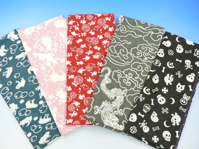Even when ごふく and limited new pattern appeared 5 Edo pattern hand towel facial towel cloth handkerchief handy