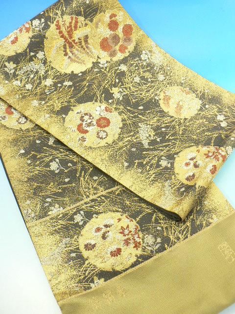送料無料 逸品 加納幸の袋帯西陣の正絹 袋帯 今回限定 仕立て希望の方 仕立て無料です訪問着や留袖の着物にぴったり特別セール価格見逃せない!