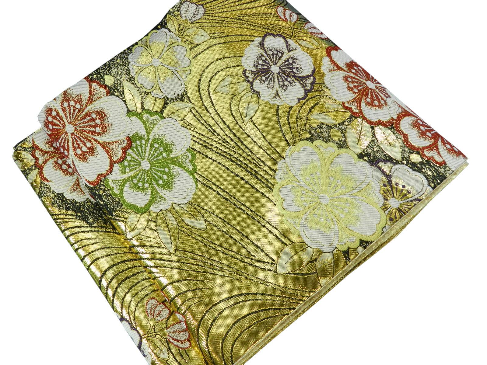 袋帯 正絹 西陣帯日本製 未仕立て振袖 訪問着にセール金額