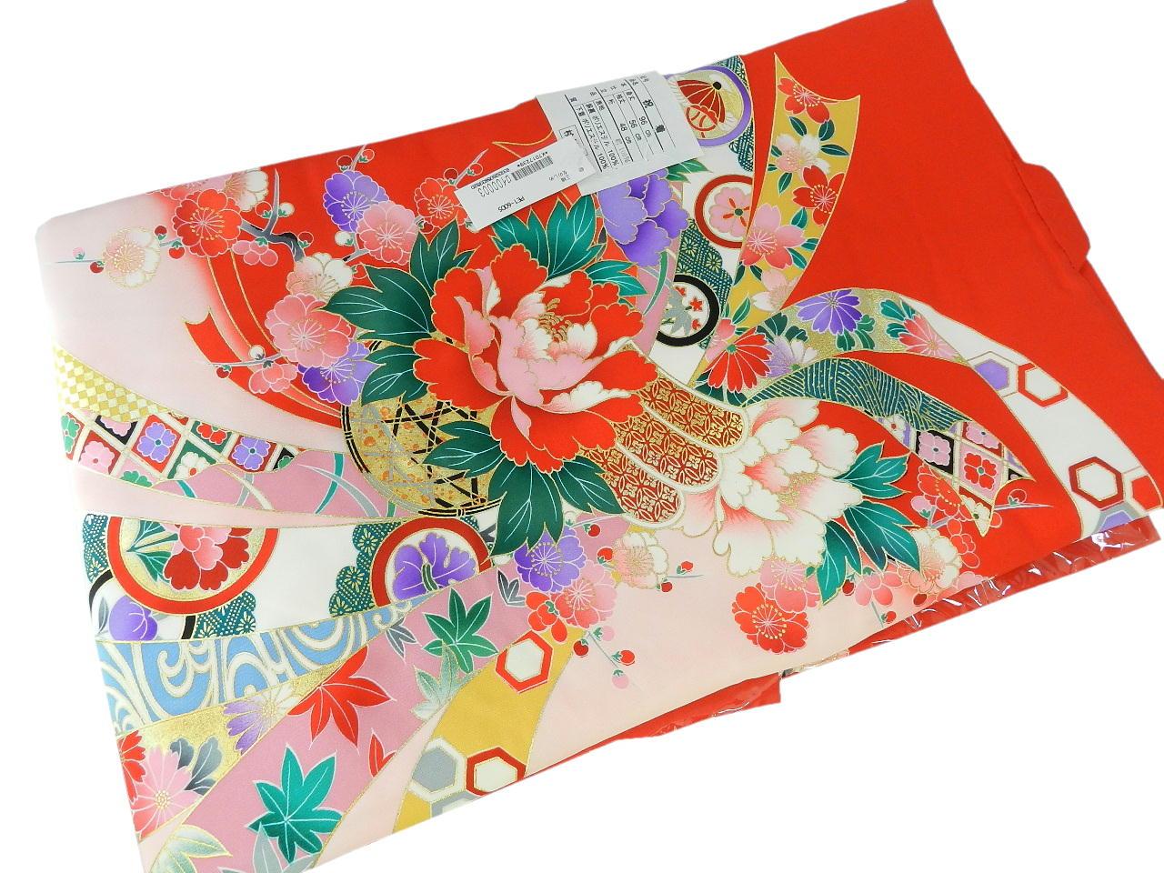宮-8女の子女児正絹 宮参りの着物 襦袢付き祝い着セット価格産着 一つ身 のしめ祝着 着物 正絹  新品