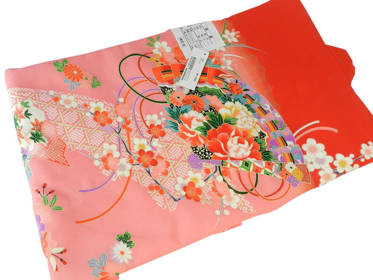 宮-10女の子女児正絹 宮参りの着物 襦袢付き祝い着セット価格産着 一つ身 のしめ祝着 着物 正絹  新品