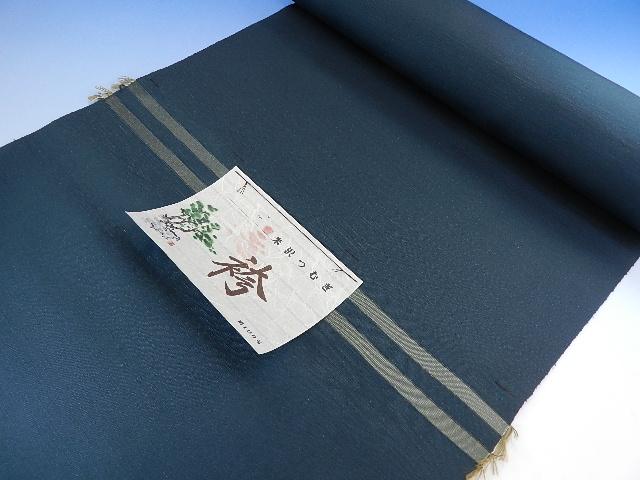 男 正絹 紬袴 グリーン系絹100パーセント日本製オーダー仕立込み馬乗り仕立て込み男性用はかま正絹でこの金額は見逃せない