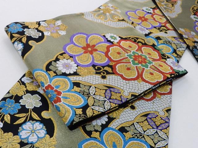 逸品・西陣袋帯芯入れ仕立てをして納品いたします 逸品が激安販売訪問着から振袖 留袖まで何にでもあう 素敵な帯