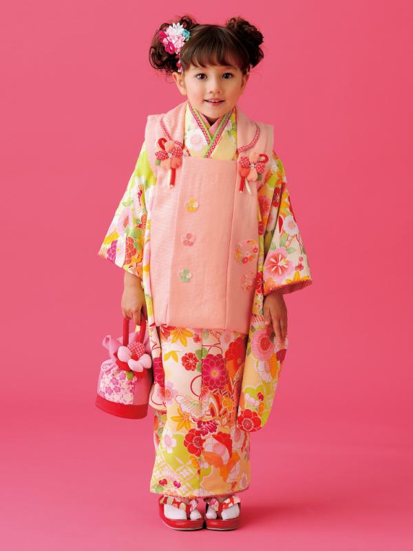 最後の1点2015年 式部浪漫の七五三三歳 【式部浪漫・Shikibu Roman】被布コートセット女児被布フルセットこれで七五三は大丈夫小物等は画像と異なります