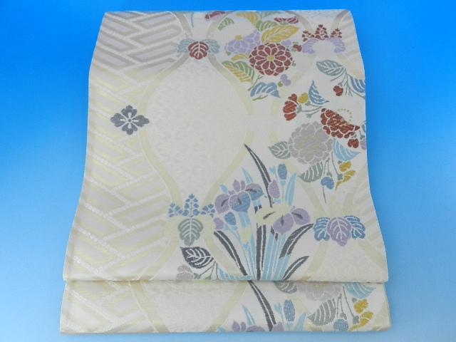 正絹・西陣袋帯未仕立て品証紙番号2508番逸品が激安販売訪問着から振袖 留袖まで何にでもあう 素敵な帯