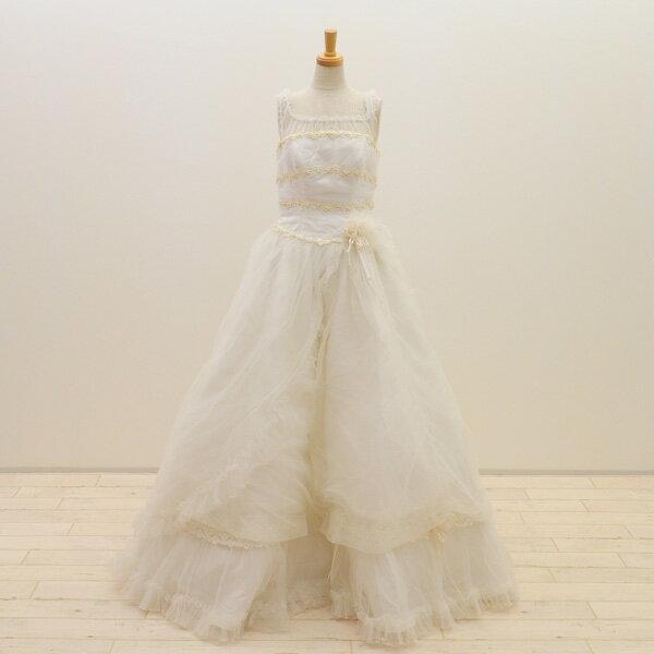 【中古】リサイクルドレスウエディングドレス 9号 c1375 ドレス ウエディングドレス  発表会 ウエデイングドレス ブライダル 花嫁 結婚式 z
