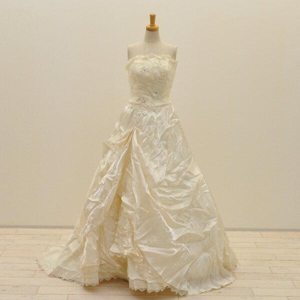 【中古】リサイクルドレスウエディングドレス 9号 c1380 ドレス ウエディングドレス 発表会 ウエデイングドレス ブライダル 花嫁 結婚式