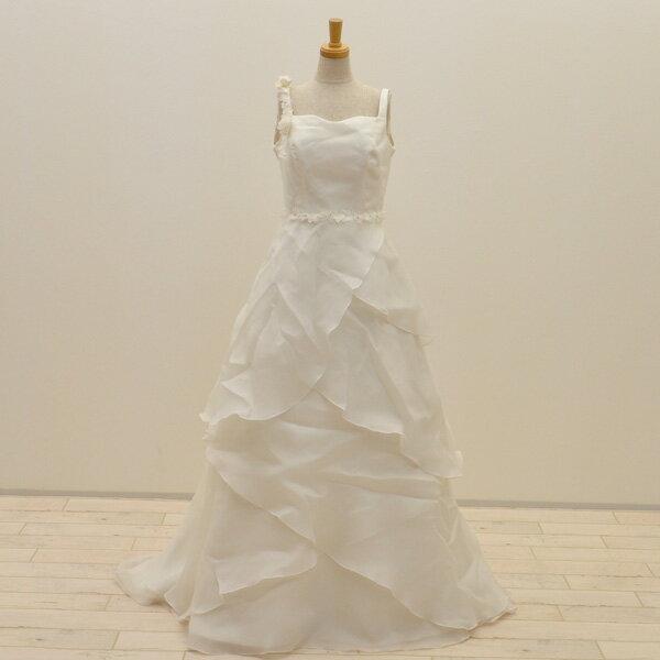 【中古】リサイクルドレスウエディングドレス 9号 c1400 ドレス ウエディングドレス 発表会 ウエデイングドレス ブライダル 花嫁 結婚式