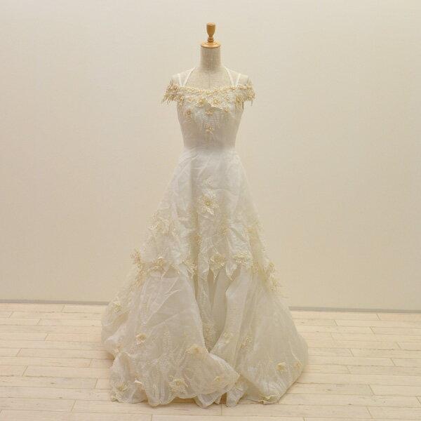 【中古】リサイクルドレスウエディングドレス 7号 c1410 ドレス ウエディングドレス 発表会 ウエデイングドレス ブライダル 花嫁 結婚式