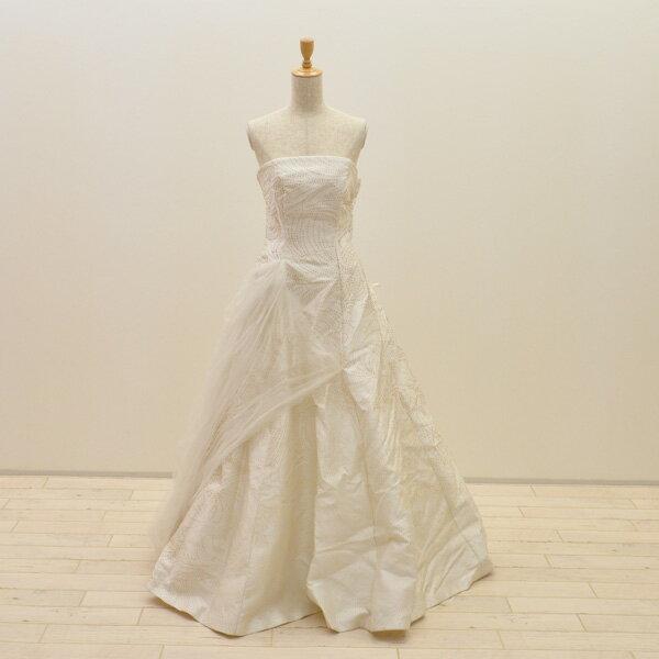 【中古】リサイクルドレスウエディングドレス 7-11号 c1412 ドレス ウエディングドレス 発表会 ウエデイングドレス ブライダル 花嫁 結婚式